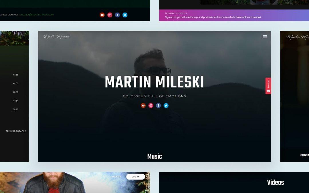Authentic Musician Branding for Martin Mileski