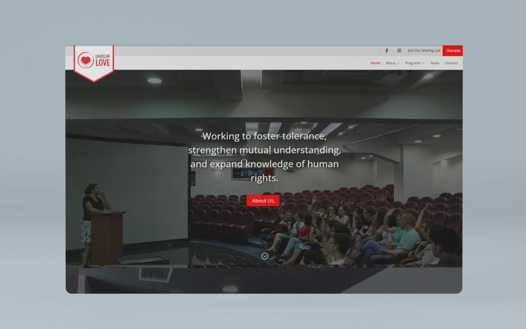 United by Love – Website for Non Profit Organization